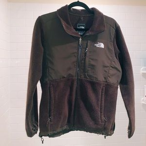 North Face Brown Fleece Zip Jacket